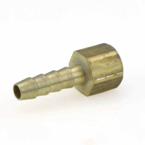 "1/4"" Hose Barb x 1/8"" FIP Brass Adapter, Lead-Free"