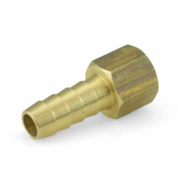 "3/8"" Hose Barb x 3/8"" FIP Brass Adapter, Lead-Free"