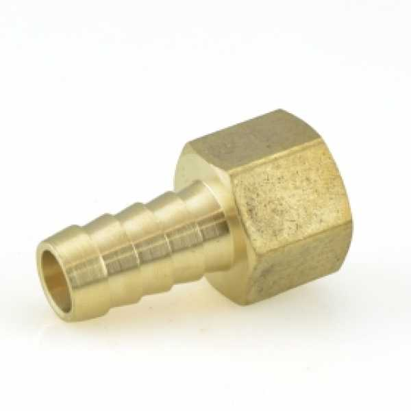 "1/2"" Hose Barb x 1/2"" FIP Brass Adapter, Lead-Free"