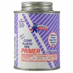 Clear PVC Primer, 8 oz (1/2 pint)