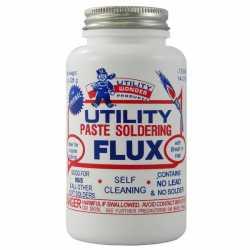 Soldering Flux Paste w/ Brush Cap, Utility, ½ lb