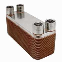 "3x8"" Brazed Plate Heat Exchanger BT3x8-26F, 26-Plate, 3/4"""