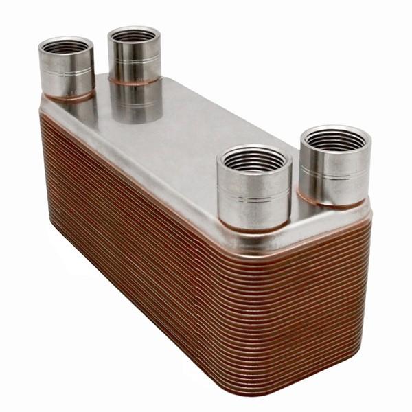 "26-Plate, 3"" x 8"" Brazed Plate Heat Exchanger w/ 3/4"" FNPT Ports"