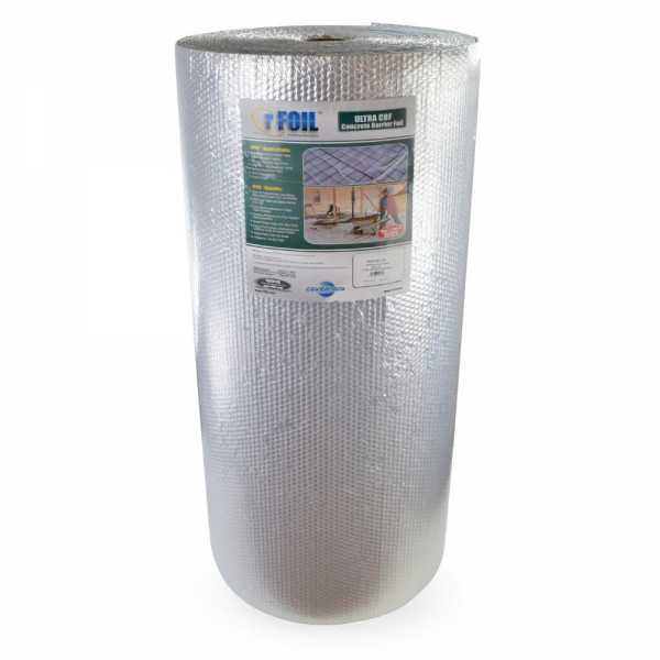 500 sqft, 4ft x 125ft rFoil Under-Slab Concrete Radiant Heat Insulation, Ultra CBF