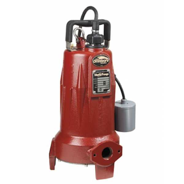 "Liberty Pumps LSGX202A 2 HP Automatic Grinder Pump w/ Piggyback Wide Angle Float Switch, 208V ~ 240V, 25"" cord"