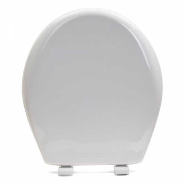 Bemis 200E4 (Cotton White) Premium Plastic Soft-Close Round Toilet Seat