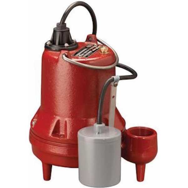 Manual Sump/Effluent Pump, 10' cord, 1/3HP, 115V
