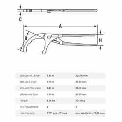 "Channellock 209 9"" Oil Filter/ PVC Plier"