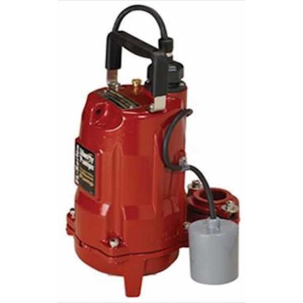 Liberty Pumps FL52A, 1/2 HP Automatic Effluent Pump w/ Wide Angle Float Switch, 208V ~ 240V, 10' cord