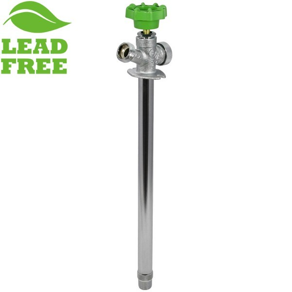 """12"""" Anti-Siphon Frost Free Sillcock, 1/2"""" MPT (Outside) x 1/2"""" SWT (Inside), Lead-Free"""