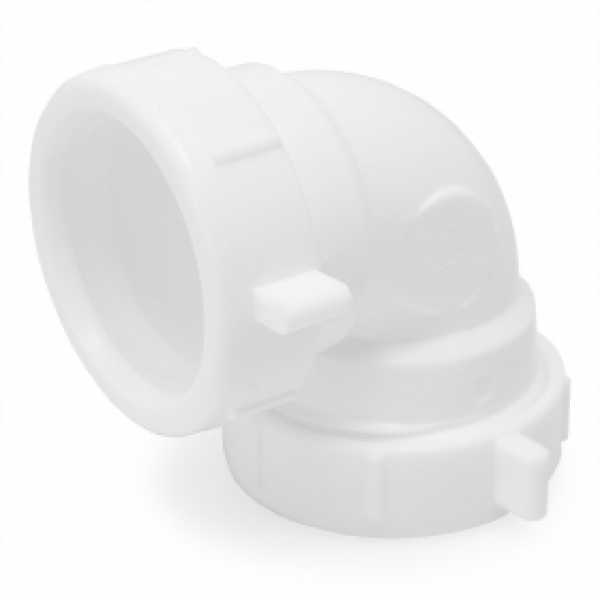 "1-1/2"" 90° Elbow, White Plastic"