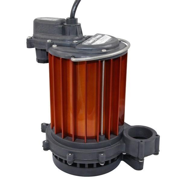Manual Sump Pump, 10' cord, 1/3HP, 115V