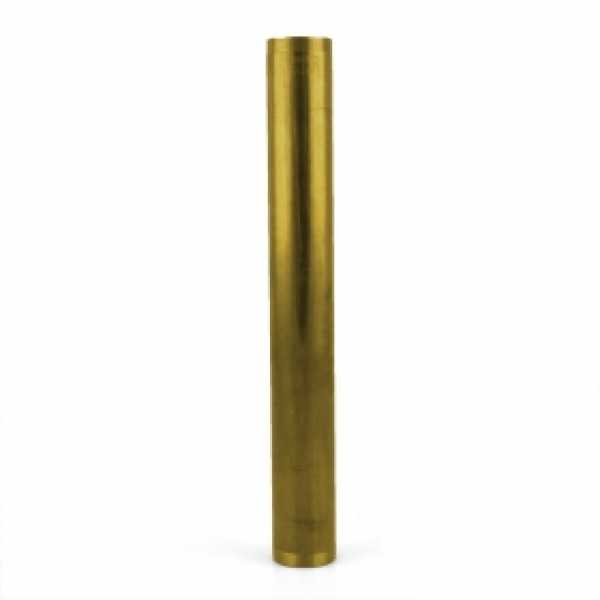 "1-1/2"" x 12"", 17GA, Double Threaded Tailpiece, Rough Brass"