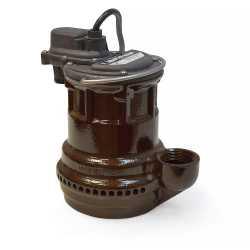 Manual Sump Pump, 10' cord, 1/4HP, 115V