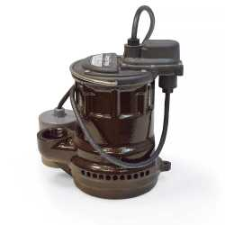 Automatic Sump Pump w/ Wide Angle Float Switch, 10' cord, 1/4HP, 115V