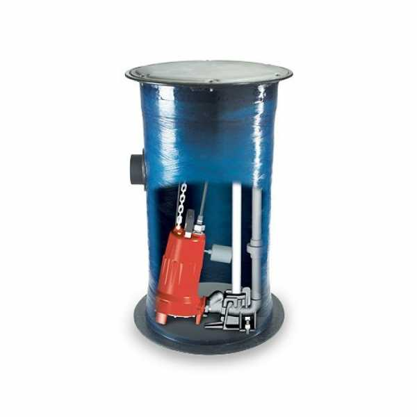 """Liberty Pumps 2448LSGX202 2 HP Pre-Assembled 2-Stage LSGX Series Grinder Package, 24"""" x 48"""" Basin"""