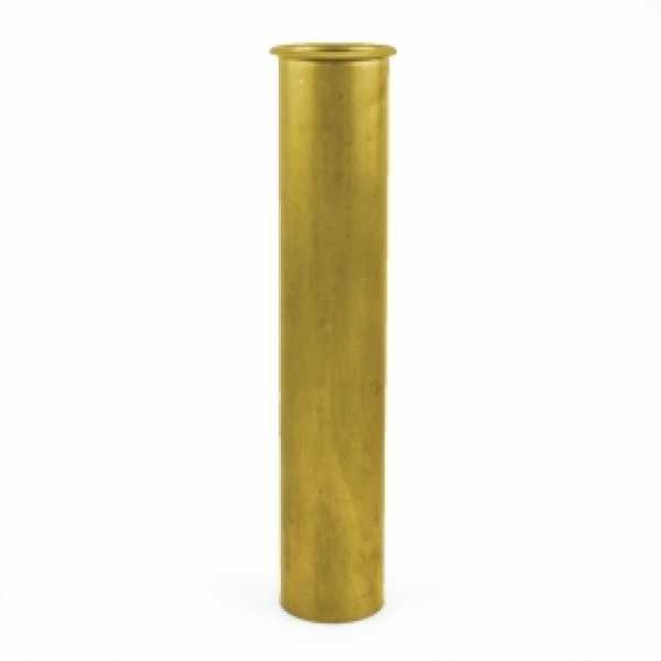 "1-1/2"" x 8"", 22GA, Flanged Tailpiece, Rough Brass"