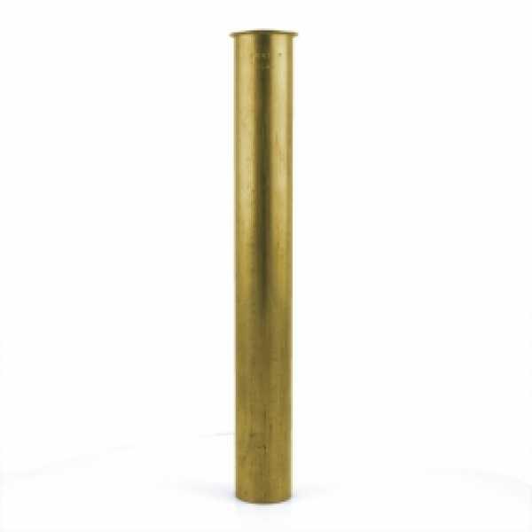 "1-1/2"" x 12"", 17GA, Flanged Tailpiece, Rough Brass"