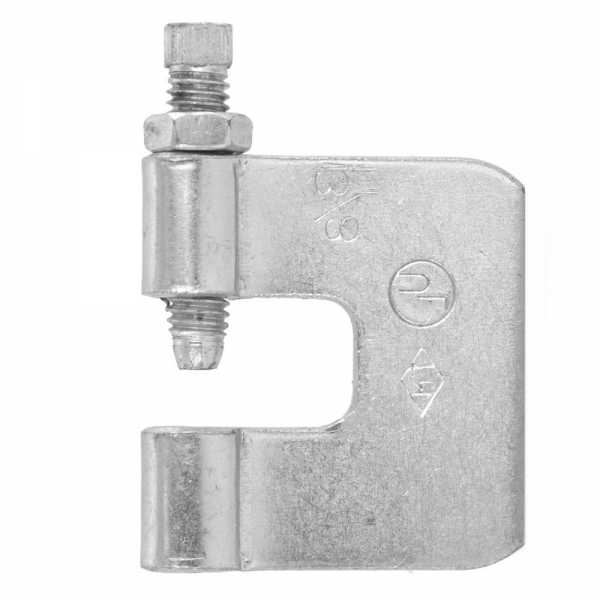 "3/8"" Galvanized Steel C-Clamp w/ Locknut"