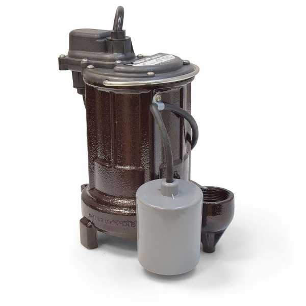 Automatic Sump/Effluent Pump w/ Wide Angle Float Switch 35' cord, 1/3HP, 115V