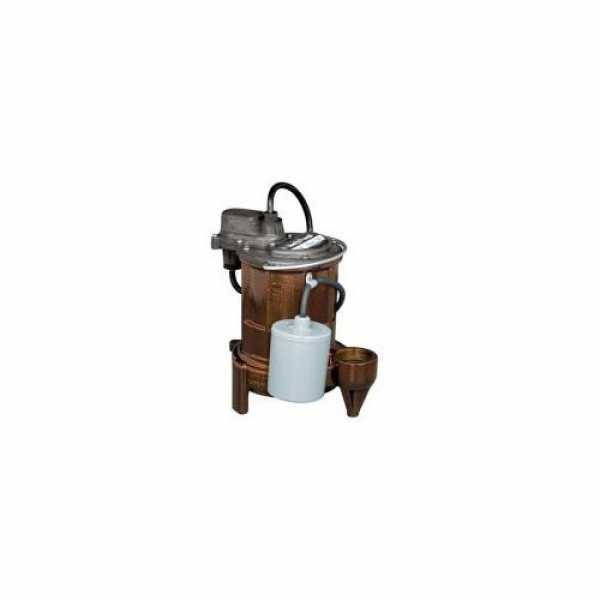 1/3 HP Automatic Submersible Effluent Pump w/ Wide-Angle Float Switch - 115v - 10 ft Cord
