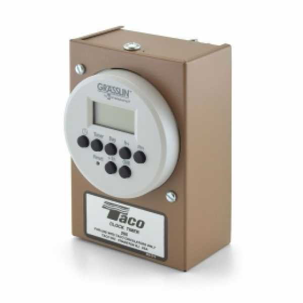 Digital 24-Hour, 7-day Programmable Timer for Taco 00 Circulators