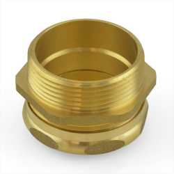 "1-1/2"" Tubular x 1-1/2"" MIP Solid Brass Adapter"