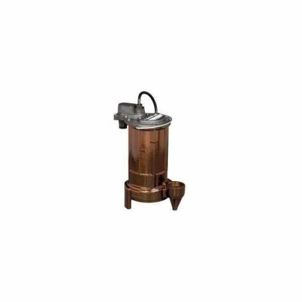 1/2 HP Manual Effluent Pump - 208-230v, 10 ft Cord