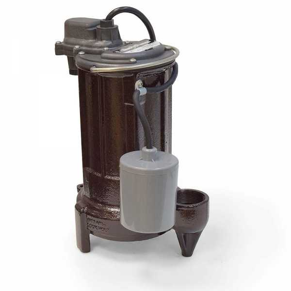 "Liberty Pumps 283 1/2 HP Automatic Sump / Effluent Pump w/ Piggyback Wide Angle Float Switch, 110V ~ 120V, 10"" cord"