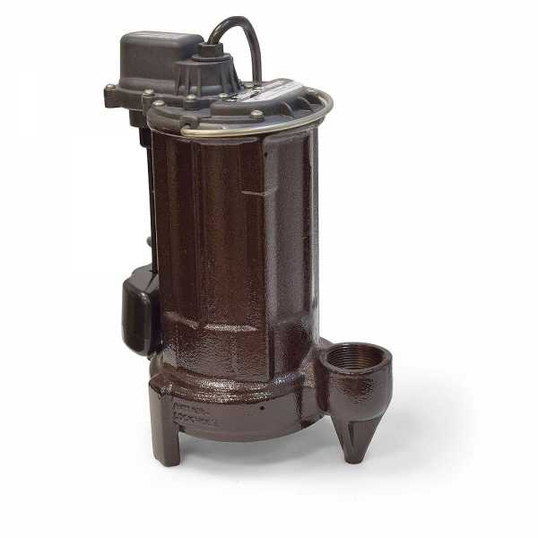 "Liberty Pumps 287 1/2 HP Automatic Sump / Effluent Pump w/ Vertical Float Switch, 110V ~ 120V, 10"" cord"