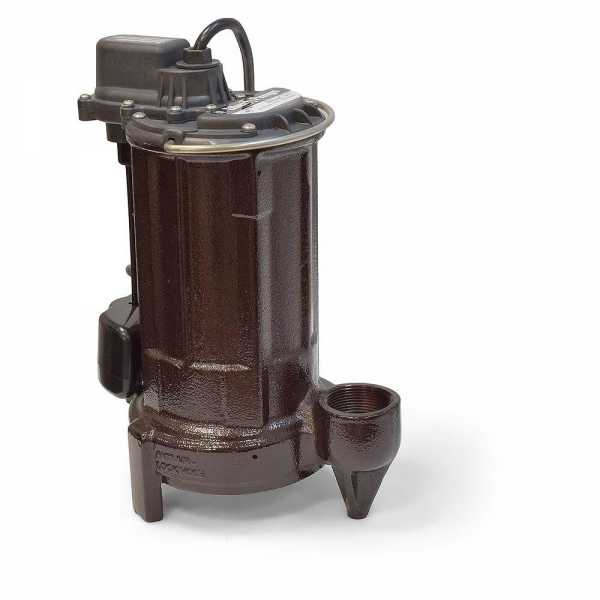 Automatic Sump/Effluent Pump w/ Vertical Float Switch, 1/2HP, 25' cord, 115V