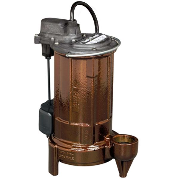 Automatic Sump/Effluent Pump w/ Vertical Float Switch, 25' cord, 3/4 HP, 208/230V