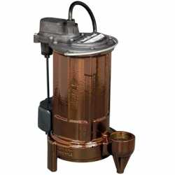 "Liberty Pumps 297HV 3/4 HP Automatic Sump / Effluent Pump w/ Vertical Float Switch, 208V ~ 240V, 10"" cord"