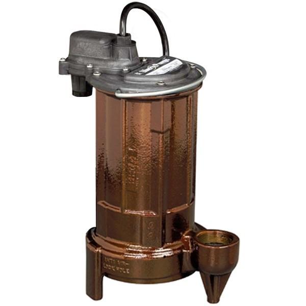 Liberty Pumps 290, 3/4 HP Manual Effluent Sump Pump, 115V, 10 Ft