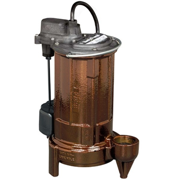 "Liberty Pumps 297 3/4 HP Automatic Sump / Effluent Pump w/ Vertical Float Switch, 110V ~ 120V, 10"" cord"