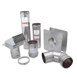 "Z-Flex 4"" Z-Vent Horizontal Vent Kit w/ Backflow Preventer"