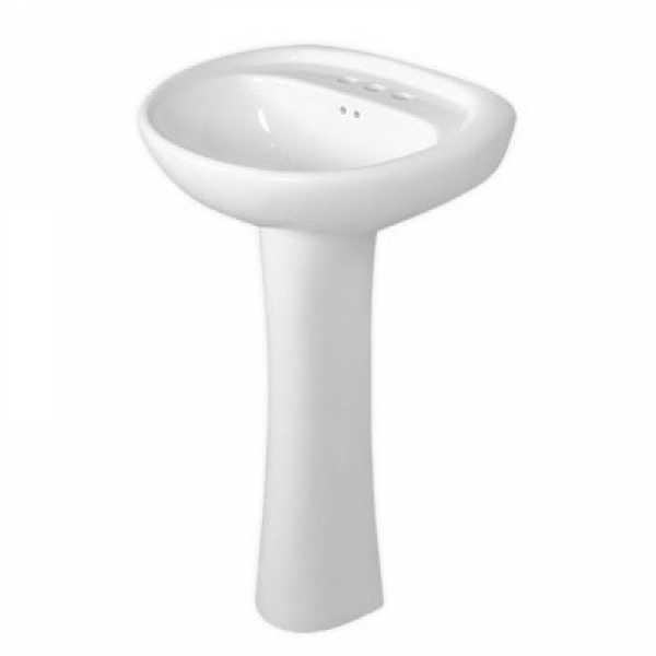 "Fine Fixtures PR2419BI 24 x 19 Prestige Style Pedestal Lavatory(Biscuit) 4""""cc"