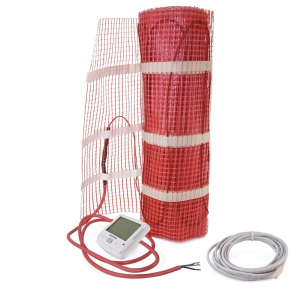 Senphus 2FHK-30 30 sq. ft. Electric Radiant Heat Kit w/ 5-2 Days Programmable Thermostat, sensor 110V ~ 120V