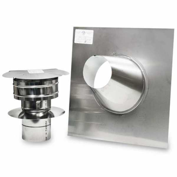 "Z-Flex 4"" Z-Vent Water Heater Vertical Vent Kit"