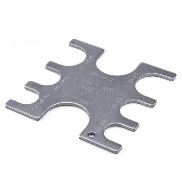 "Go/No-Go Gauge Tool for PEX Crimp Ring sizes 3/8"", 1/2"", 3/4"" and 1"""
