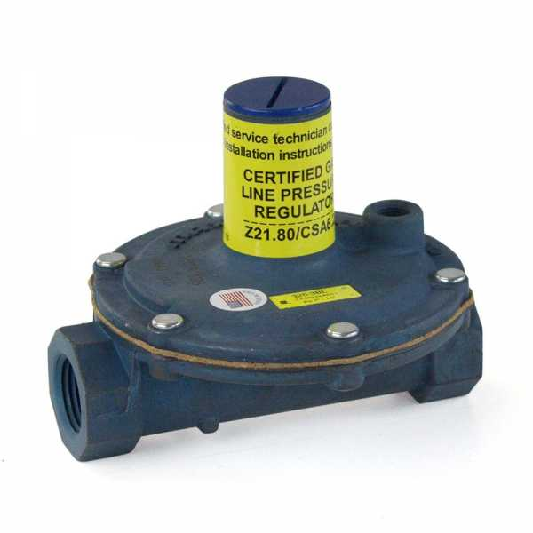 "1/2"" Gas Appliance & Line Pressure Regulator w/ Imblue Coating (325-3L series)"