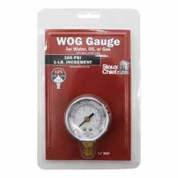 "100 psi Pressure Gauge w/ 1/4"" MNPT connection"