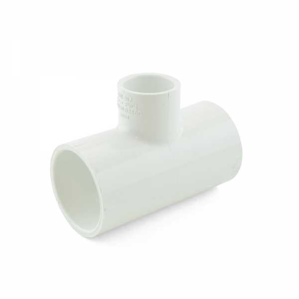 "1-1/4"" x 1-1/4"" x 3/4"" PVC (Sch. 40) Reducing Tee"