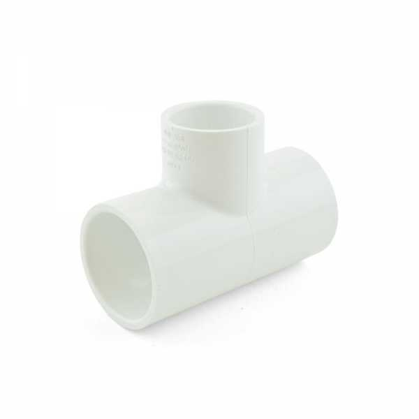 "1-1/4"" x 1-1/4"" x 1"" PVC (Sch. 40) Reducing Tee"