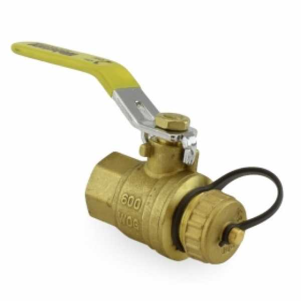 "3/4"" FIP x 3/4"" Garden Hose Ball Valve, Full Port (Lead-Free)"