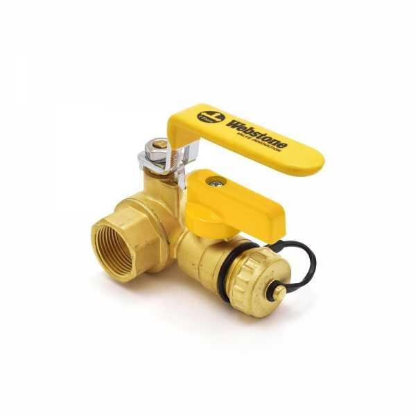 Webstone Valves 40613W 3/4 inch Brass Ball Valve w/ Hose Drain, NPT Threaded, Full Port (Lead-Free)