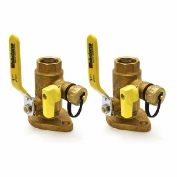 "1"" IPS Isolator Flange Valves w/ Drain (pair)"