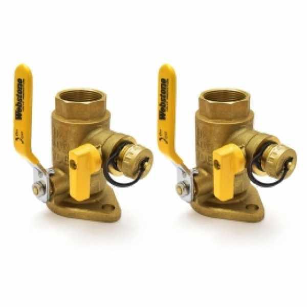 "1-1/4"" IPS Isolator Flange Valves with Drain (pair)"