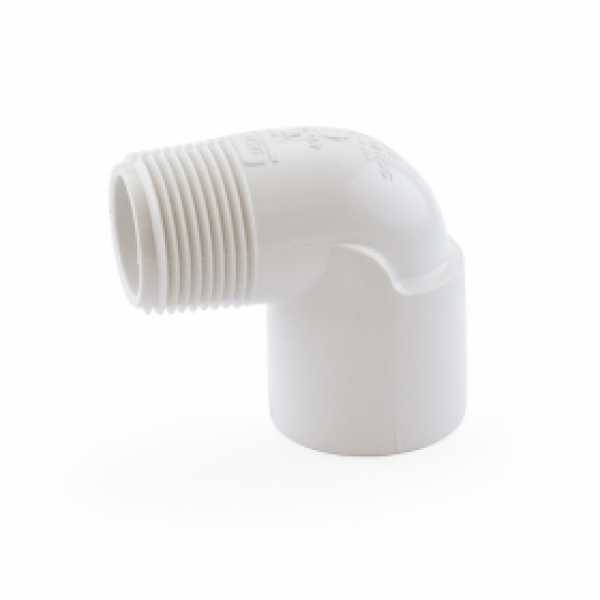 "1"" PVC (Sch. 40) Socket x MIP 90° Elbow"