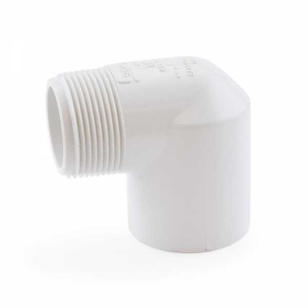 "1-1/4"" PVC (Sch. 40) Socket x MIP 90° Elbow"